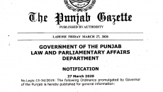 Punjab Infectious Diseases (Prevention and Control) Ordinance 2020