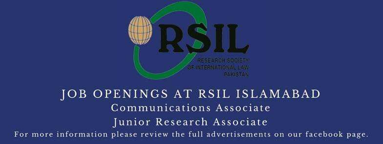 Job Openings At Research Society of International Law (RSIL