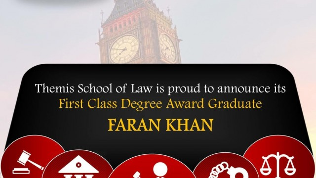 Another Pakistani Student Achieves First Class Degree Award From University  Of London LL.B. Programme  First Class Degree